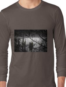 Peering out from the Wood Long Sleeve T-Shirt