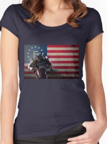 Enclave Power Armor Women's Fitted Scoop T-Shirt