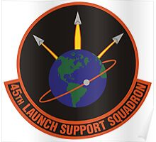 45th Launch Support Squadron Logo Poster