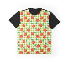 Tartan green plaid and red apple seamless pattern. Graphic T-Shirt