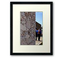 Conglomerate column ~ Pergamon, Turkey Framed Print