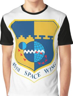 45th Space Wing Logo Graphic T-Shirt