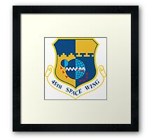 45th Space Wing Logo Framed Print