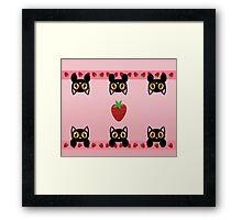 Strawberry Kittens Framed Print