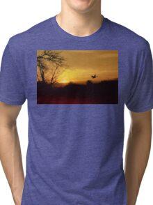 Red River Sunset Tri-blend T-Shirt