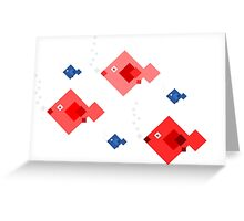Red and blue fish Greeting Card