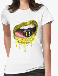 Dripping With Gold Lips Womens Fitted T-Shirt