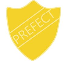 Harry Potter Hufflepuff Hogwarts House Prefect Badge Photographic Print