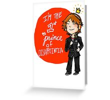 yosuke hanamura: the prince of disappointment! Greeting Card