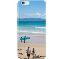 Surfing Byron Bay in New South Wales, Australia iPhone Case/Skin