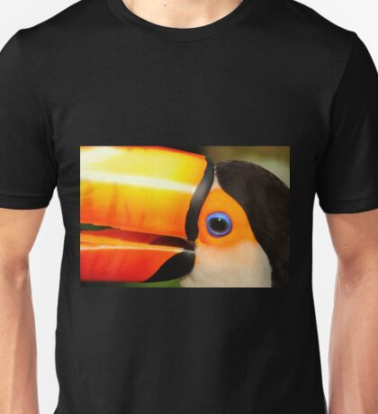 Quaint Bird: Portrait of a Toco Toucan at Iguassu, Brazil. Unisex T-Shirt