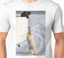 A Curious Polar Bear Unisex T-Shirt