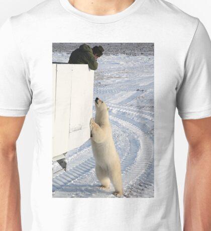 A Curious Polar Bear Unisex T-Shirt