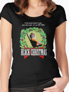 Black Christmas - Original Slasher Women's Fitted Scoop T-Shirt