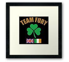 Team Fury Framed Print