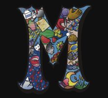 Doodle Letter M Baby Tee