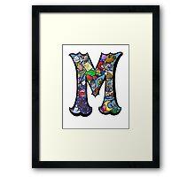 Doodle Letter M Framed Print