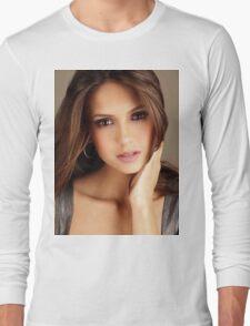 Beautiful Face Nina Dobrev The Vampire Diaries 2 Long Sleeve T-Shirt