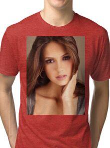 Beautiful Face Nina Dobrev The Vampire Diaries 2 Tri-blend T-Shirt