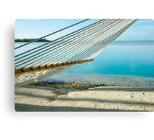 Hammock on tropical island. Canvas Print