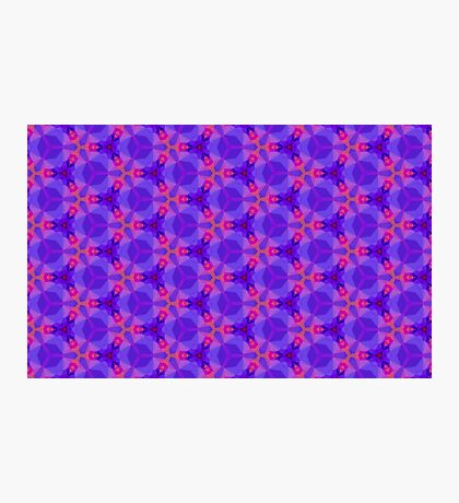 Blue and red Geometric pattern Photographic Print