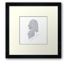 Hamilton Floral Silhouette Broadway Framed Print