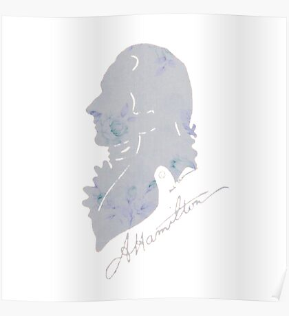 Hamilton Floral Silhouette Broadway Poster