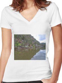 Cataract Gorge, Launceston, Tasmania, Australia Women's Fitted V-Neck T-Shirt