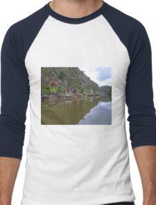 Cataract Gorge, Launceston, Tasmania, Australia Men's Baseball ¾ T-Shirt