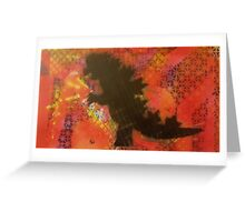 Godzilla of Wall Street Greeting Card