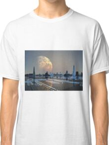 Futuristic Alien City - Computer Artwork Classic T-Shirt