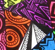 Abstract Fluoro Geometric 1  Sticker