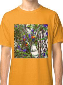 Abstract Beautiful Rainbow Lorikeets Classic T-Shirt