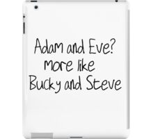 Bucky and Steve iPad Case/Skin