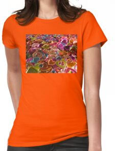 Shiny Hearts Valentine Card  Womens Fitted T-Shirt