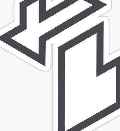 Isometric Michigan (Grey) Sticker