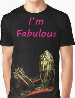 Fabulous Turtle Graphic T-Shirt