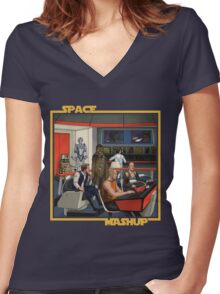 Space Mashup Women's Fitted V-Neck T-Shirt