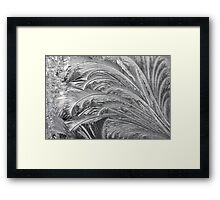 Window Ice Patterns Framed Print