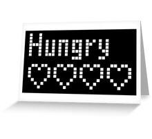 Tamagotchi hungry Greeting Card