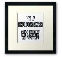 Funny Photographer Shirt Framed Print