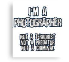 Funny Photographer Shirt Canvas Print