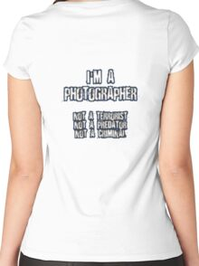 Funny Photographer Shirt Women's Fitted Scoop T-Shirt