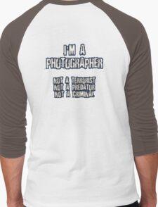 Funny Photographer Shirt Men's Baseball ¾ T-Shirt