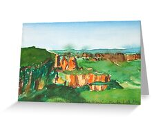 Three Sisters, Blue Mountains Greeting Card