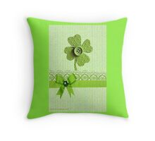 A Clover Throw Pillow