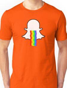 Snapchat ghost barfing rainbows Unisex T-Shirt