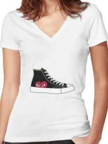 Comme des garcons x Converse Women's Fitted V-Neck T-Shirt