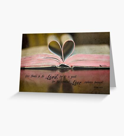 Bible Heart Greeting Card