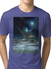 Alien Planet - Fantasy Landscape Tri-blend T-Shirt